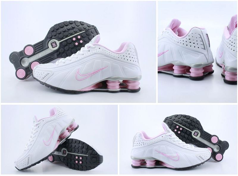Women Nike Shox R4 Shoes White Pink