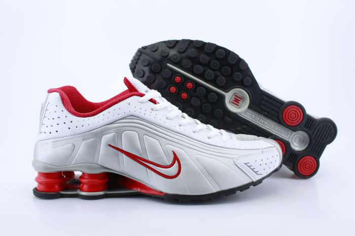 Nike Shox R4 Shoes White Red Swoosh Air Cushion