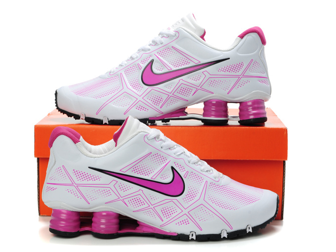 2e14504a564 Nike Shox Turbo 12 Shoes White Pink For Women  Nike3842  -  68.00 ...