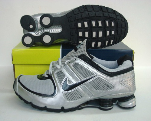 Nike Shox Turbo Shoes Grey Silver Black