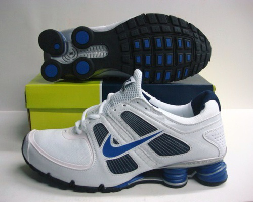 Nike Shox Turbo Shoes White Black Blue