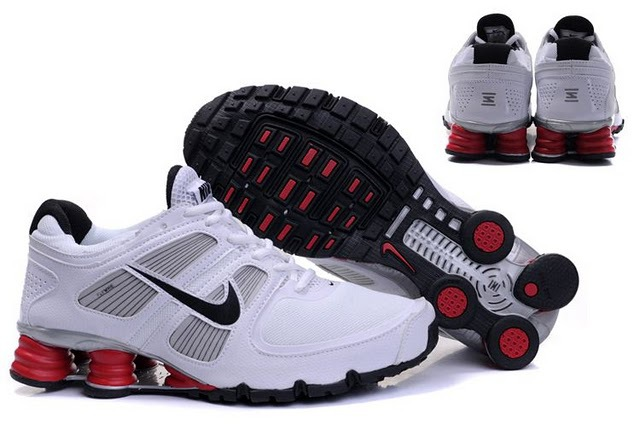Nike Shox Turbo Shoes White Grey Black Red
