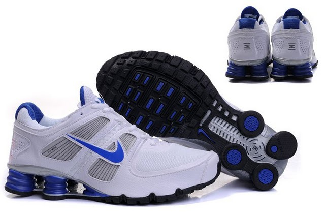 Nike Shox Turbo Shoes White Grey Blue