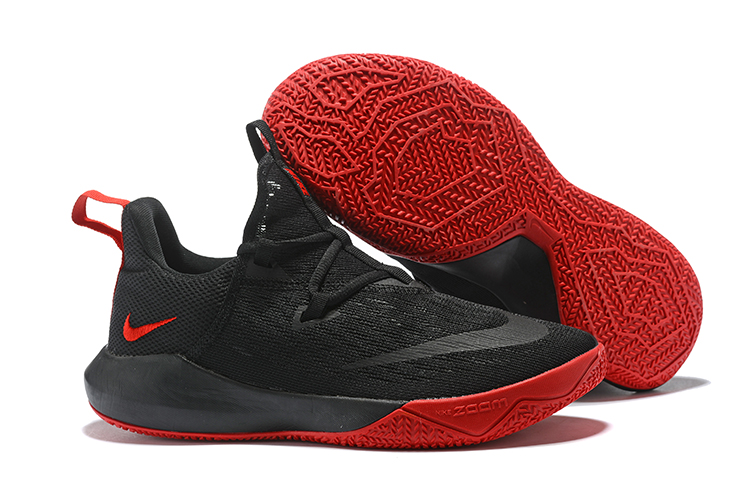 Nike Team 2 Black Red Basketball Shoes