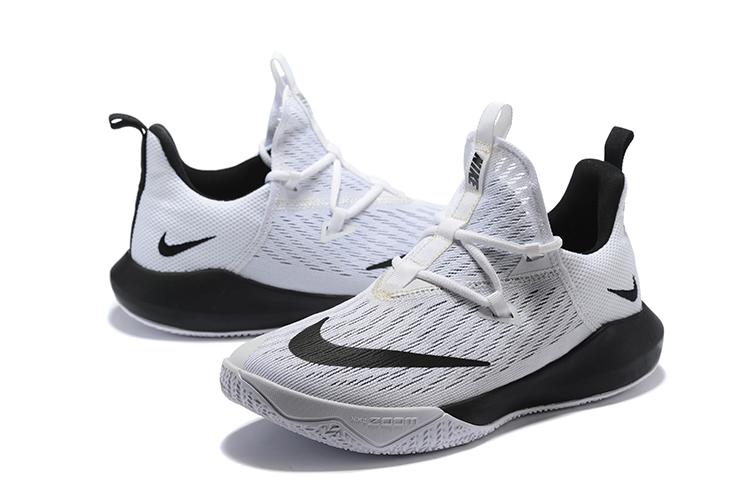 Nike Team 2 White Black Basketball Shoes
