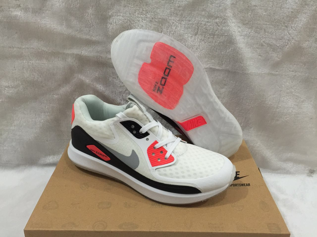 Nike Zoom 90 IT White Black Red Shoes