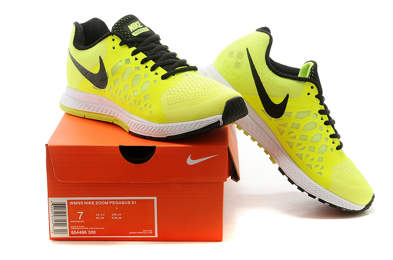 cf8f78d96ce7 Nike Zoom Pegasus 31 Yellow Black Sport Shoes For Women