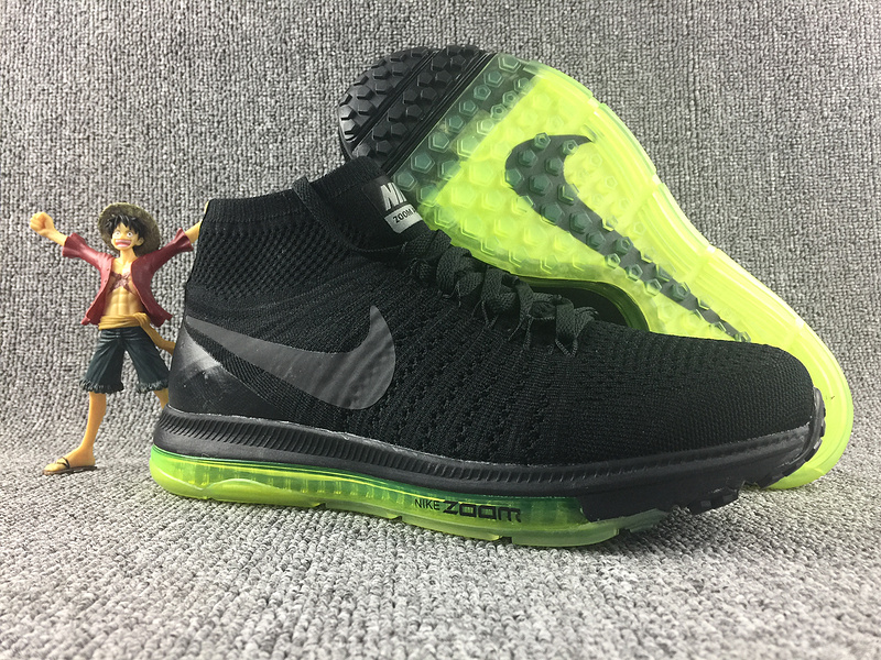 Nike Zoom Pegasusu All Out Flyknit Black Green Shoes