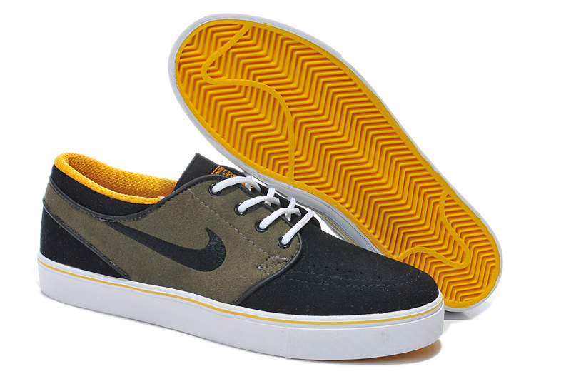 Nike Zoom Stefan Low Black Yellow White Shoes