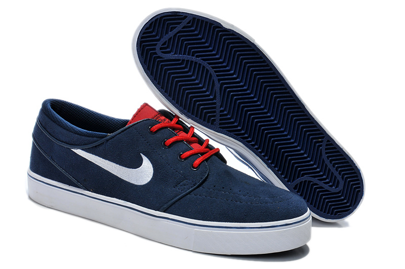 Nike Zoom Stefan Low Deep Blue White Red Shoes