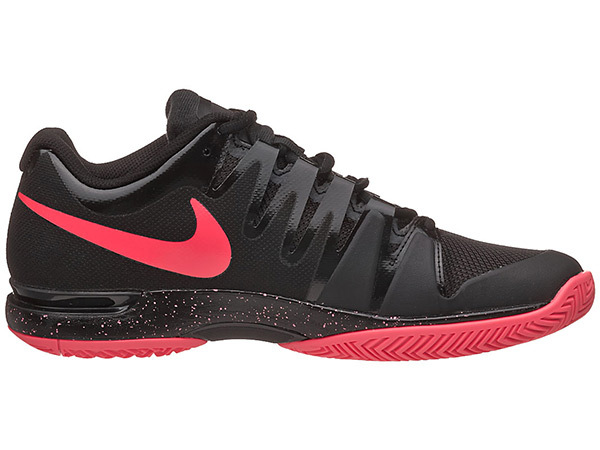 Nike Zoom Vapor 9.5 Tour Black Red Tennis Shoes