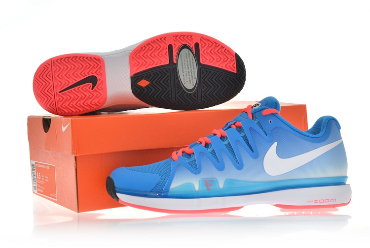 Nike Zoom Vapor 9.5 Tour Blue Red White Tennis Shoes