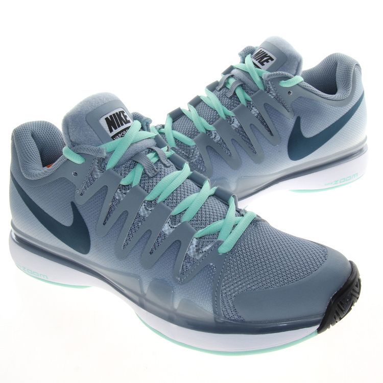 Nike Zoom Vapor 9.5 Tour Grey Green Black Tennis Shoes