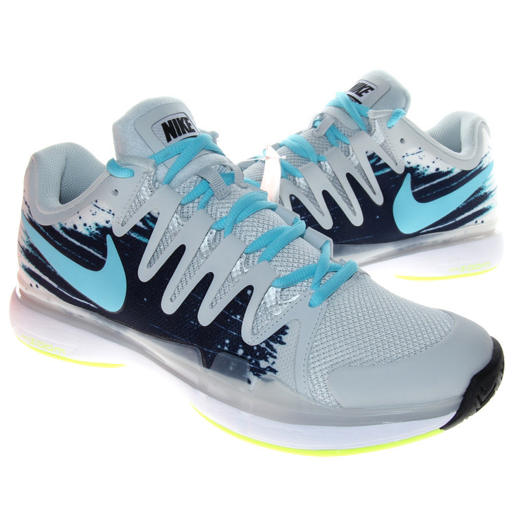 Nike Zoom Vapor 9.5 Tour Grey Green Blue Tennis Shoes
