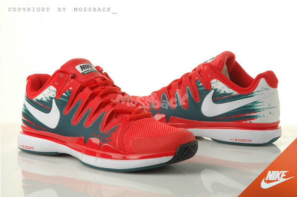 Nike Zoom Vapor 9.5 Tour Red White Grey Tennis Shoes