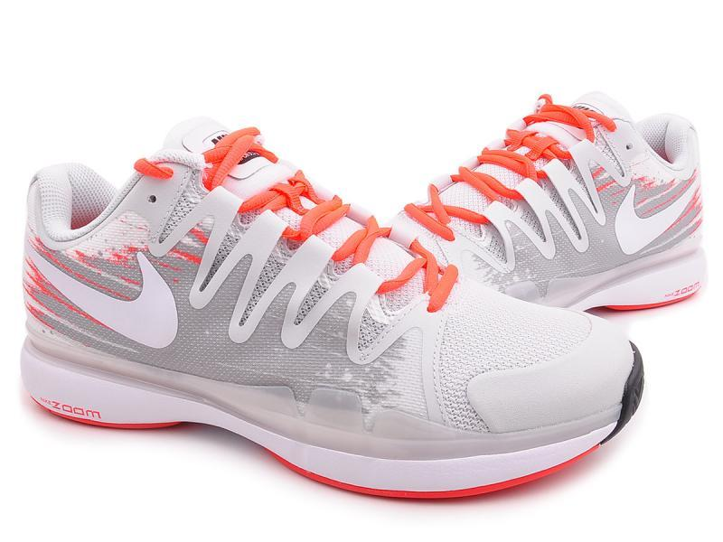 Nike Zoom Vapor 9.5 Tour White Grey Red Tennis Shoes