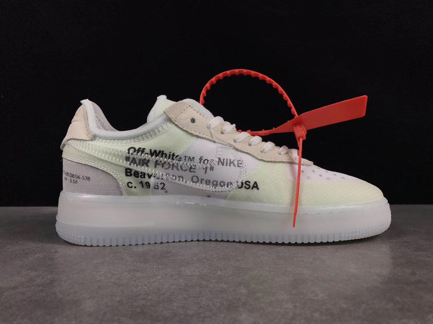 Women OFF-White x Nike Air Force 1 Low White Beign Shoes
