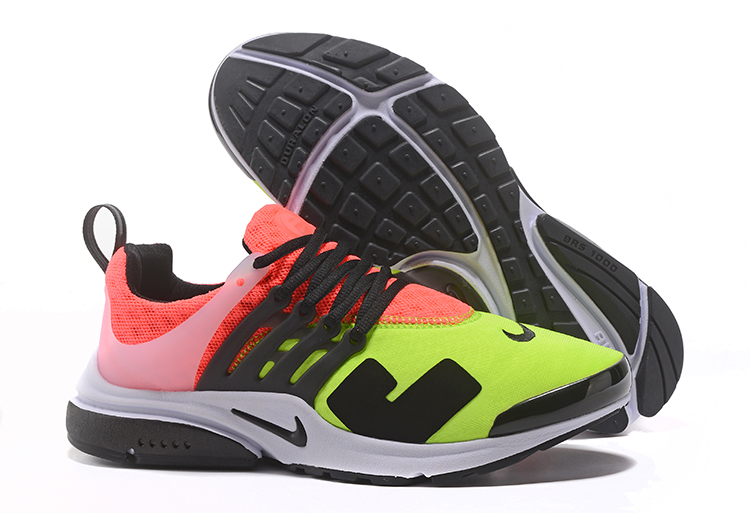 Off White Nike Air Presto Green Reddish Orange Black Shoes