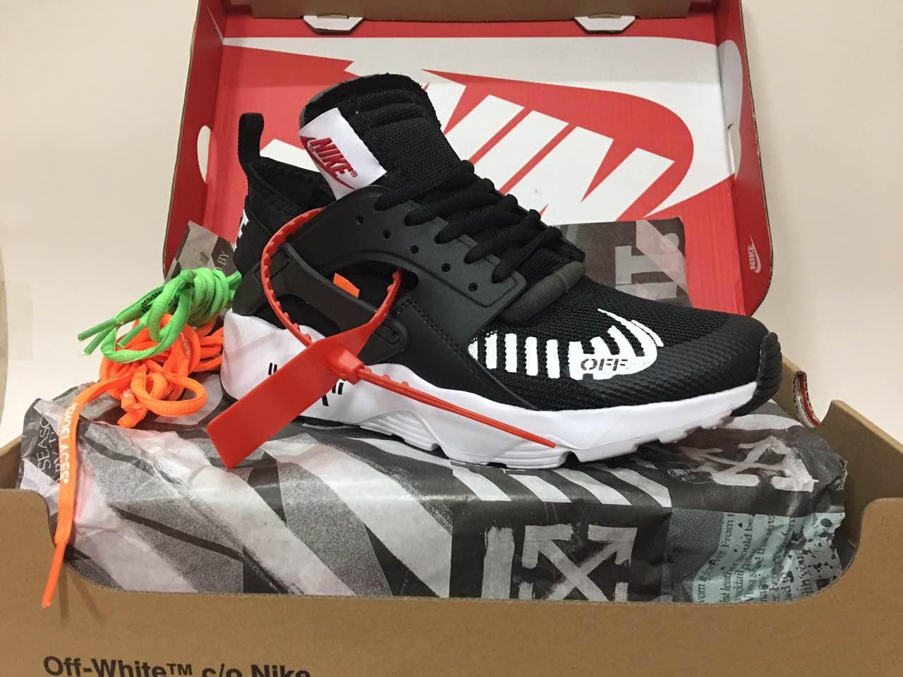 low priced d1056 c21b4 Off-white Nike Air Huarache 4 Black White Shoes