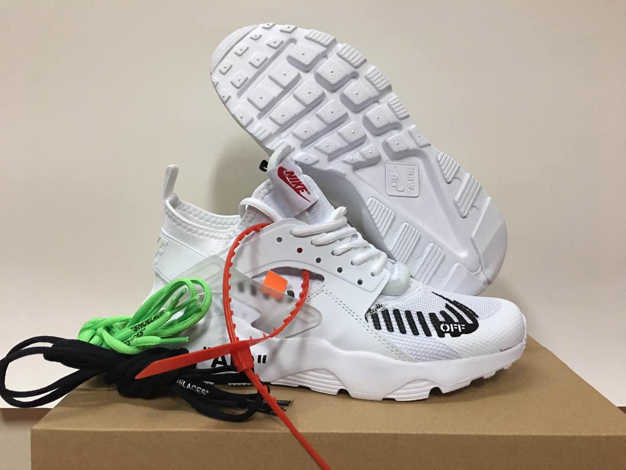 the latest ed738 b9f0d Off-white Nike Air Huarache 4 White Black Shoes