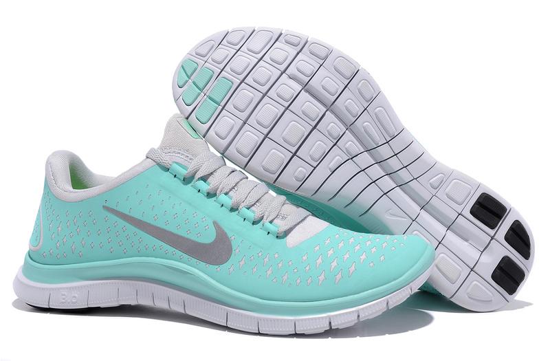separation shoes 52edb 93015 Tiffany Blue Nikes Free 3.0 V4 Running Shoes