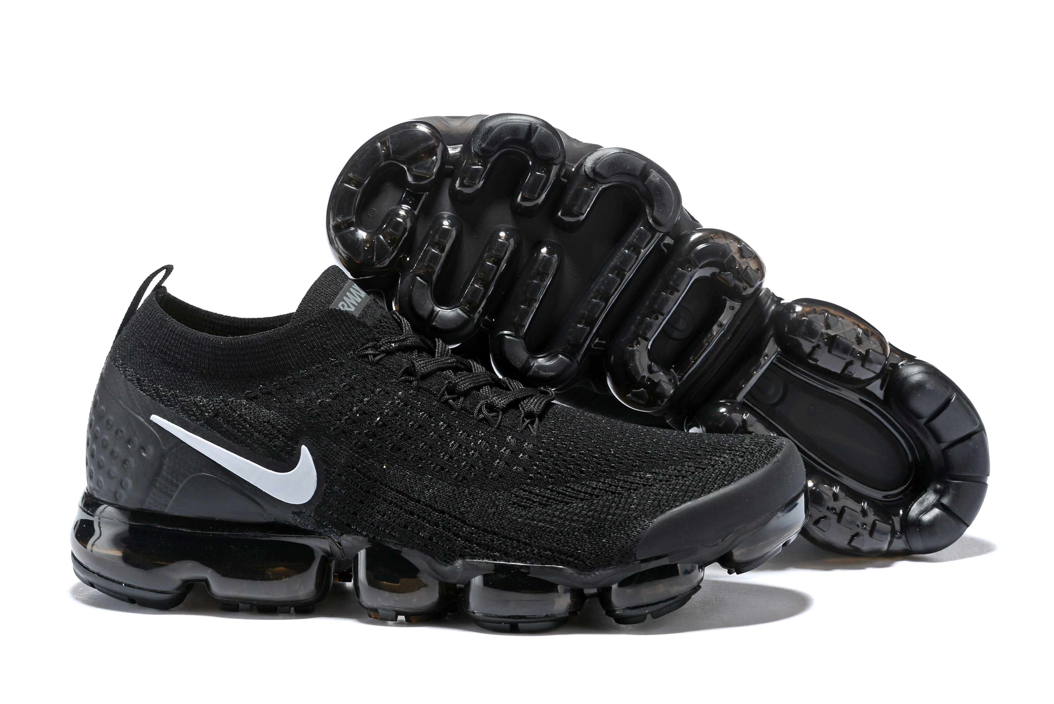 Women 2018 Nike Air VaporMax II All Black White Shoes