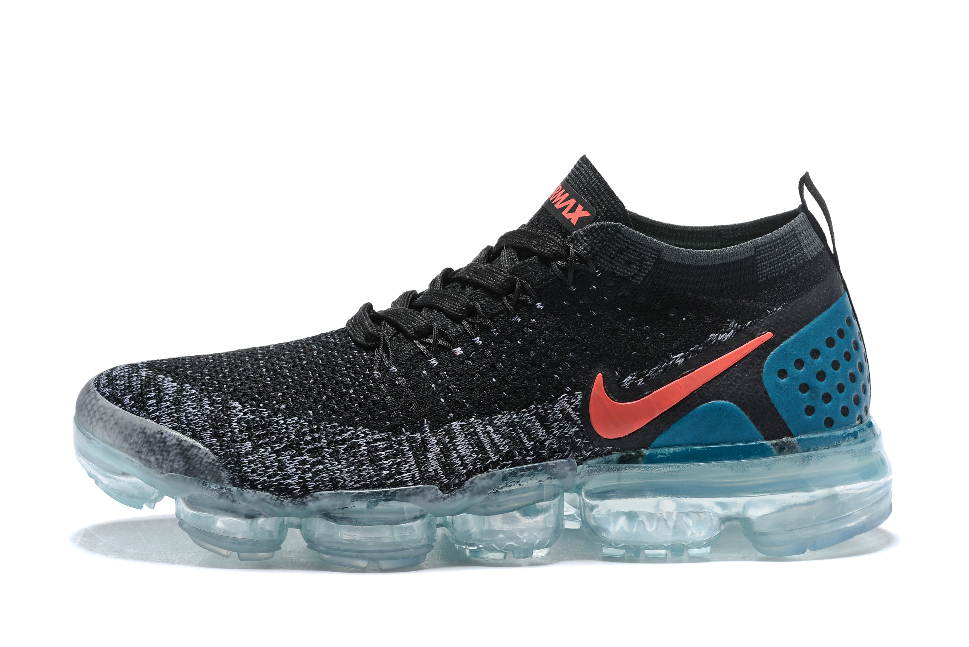 Women 2018 Nike Air VaporMax II Black Grey Red Shoes