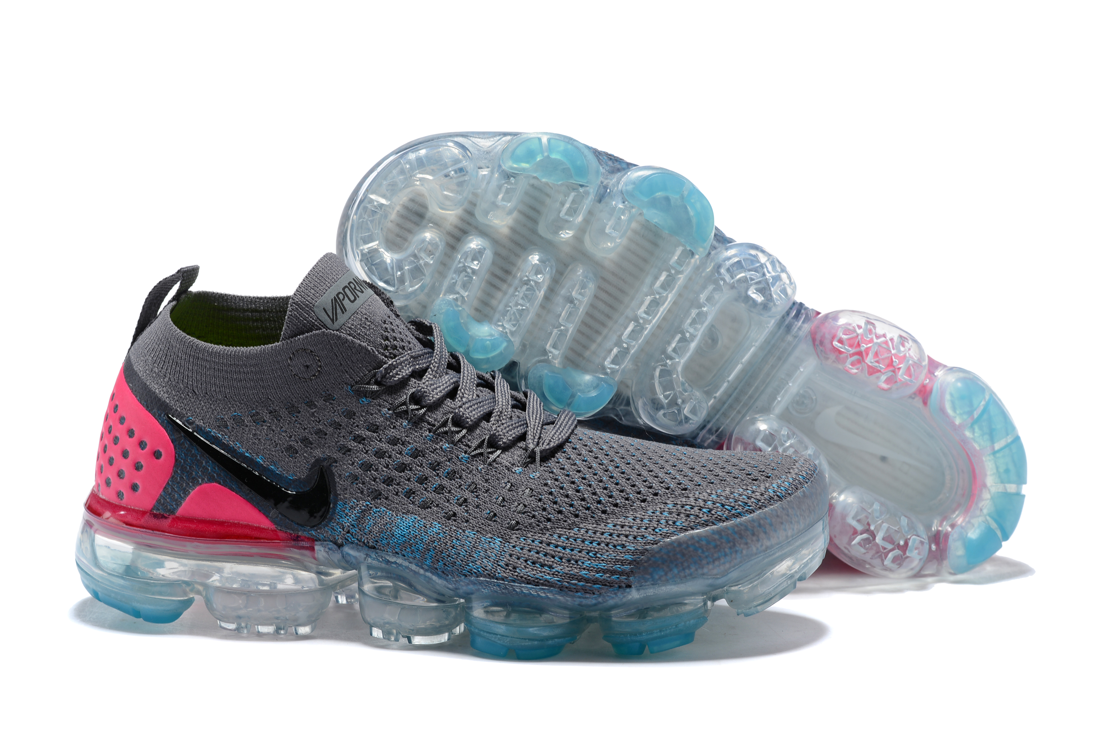 Women 2018 Nike Air VaporMax II Grey Red Shoes