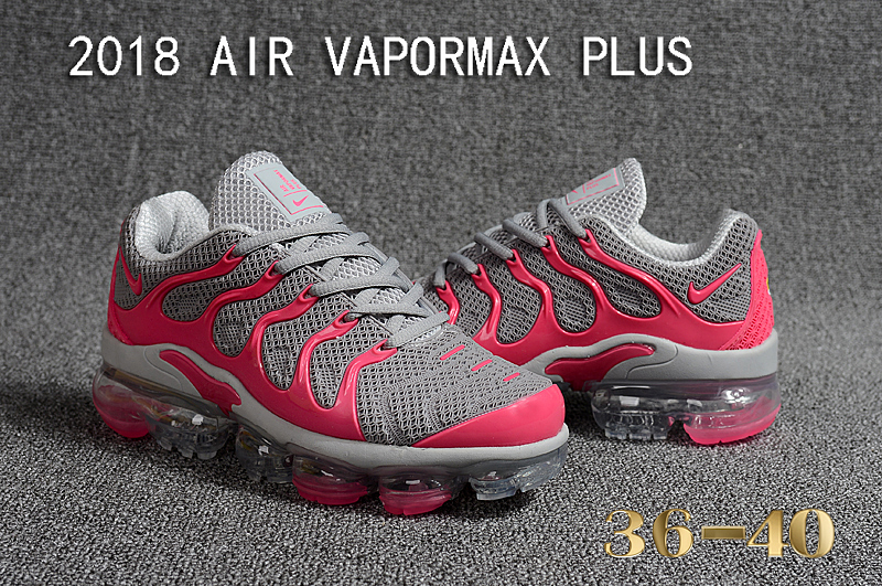 Women 2018 Nike Air VaporMax Plus Grey Pink Shoes