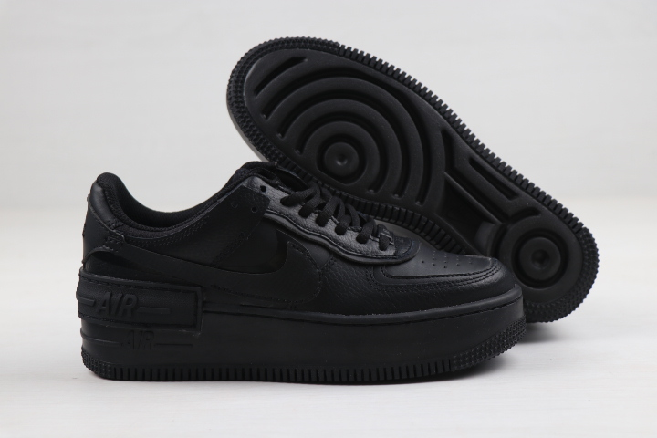 Women Nike Air Force 1 Low Shadow All Black Shoes