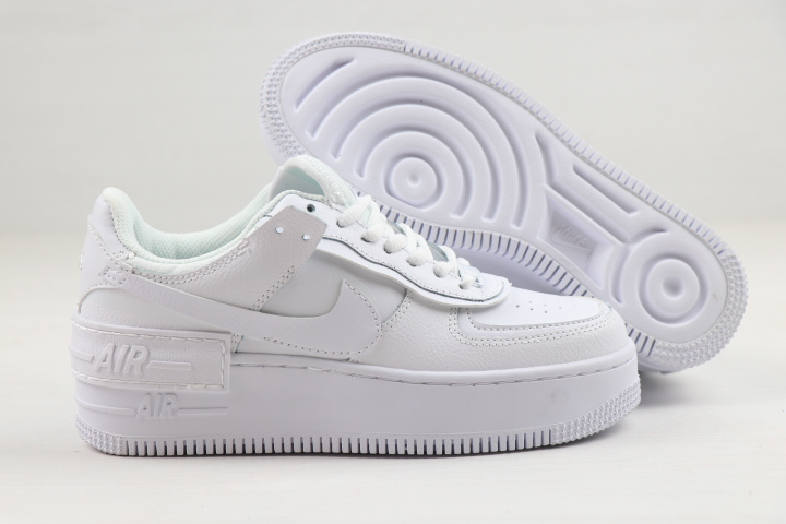 Women Nike Air Force 1 Low Shadow All White Shoes