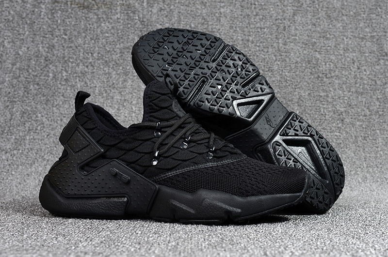 Women Nike Air Huarache 6 Flyknit All Black Shoes