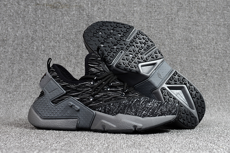 Women Nike Air Huarache 6 Flyknit Black Grey Shoes