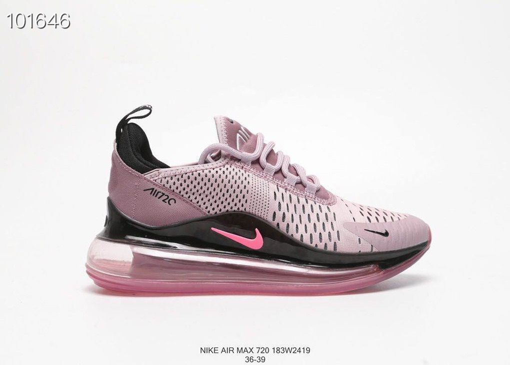 Women Nike Air Max 270 V2 Purple Black Shoes 19running72703