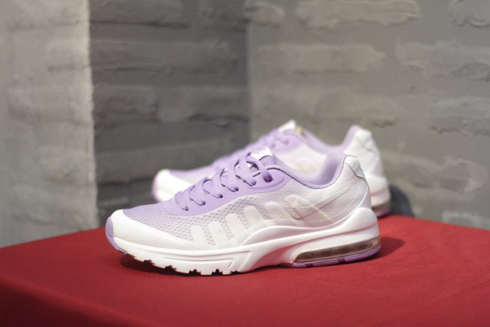 huge discount 8bf88 21f83 Women Nike Air Max Invigor Print 95 Light Purple White Shoes