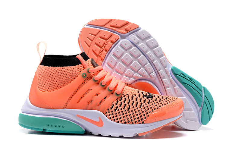 65cfcfcab836 Women Nike Air Presto Flyknit Ultra Orange Green White Shoes