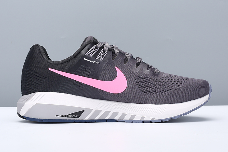 Women Nike Air Zoom StrucTure 21 Black Pink Shoes