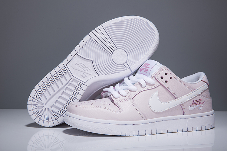 Women Nike Dunk Low Elite Sb Light Pink Shoes