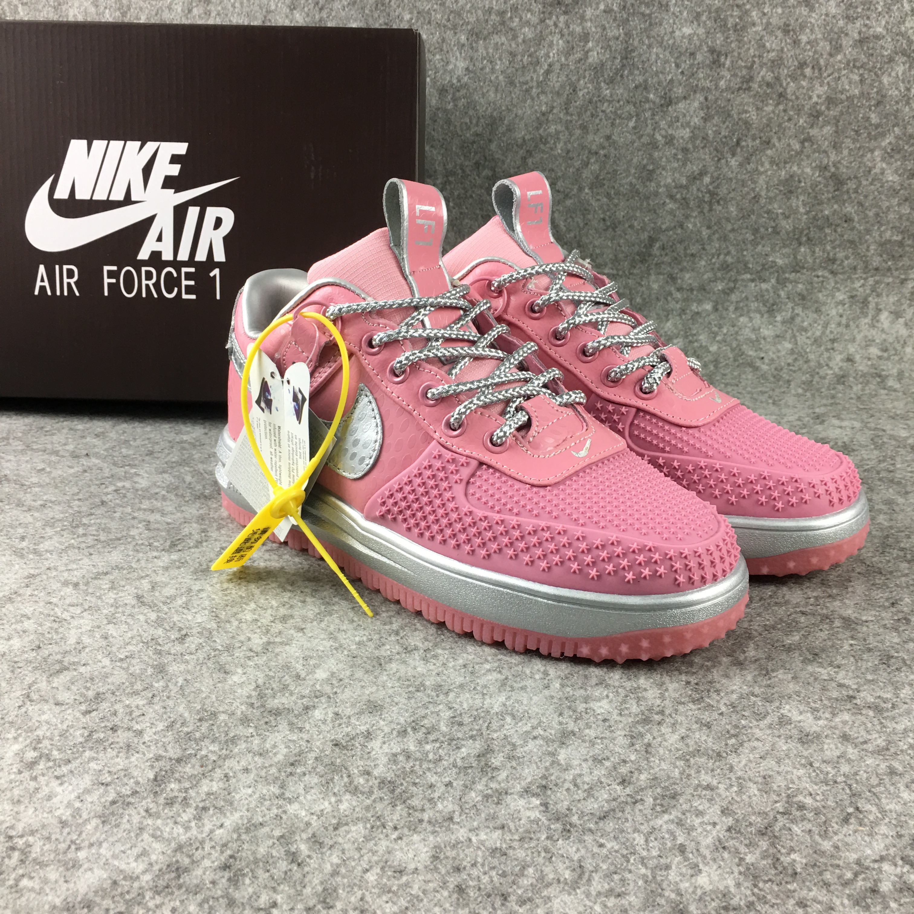 Women Nike Lunar Force 1 Low Pink Silver Shoes