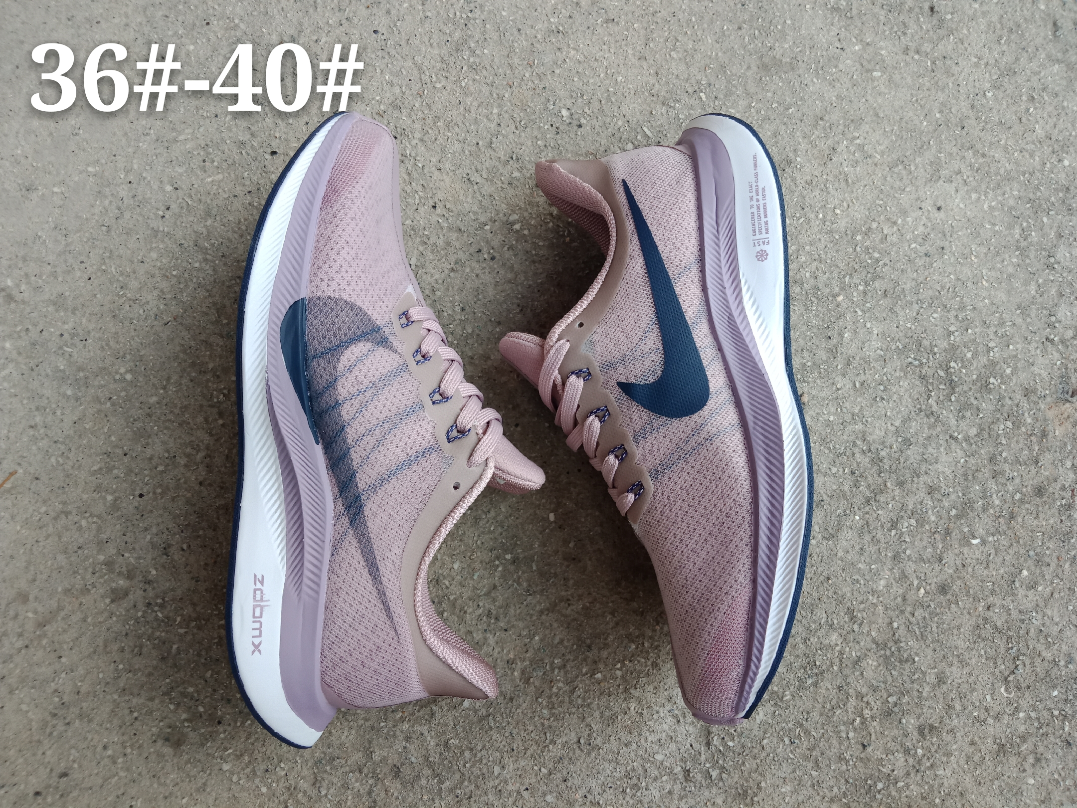 Women Nike Zoom Pegasus 35X Pink Blue Shoes