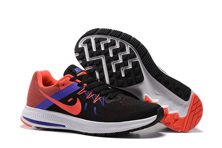 Women Nike Zoom Winflo 2 Black Orange Blue Shoes