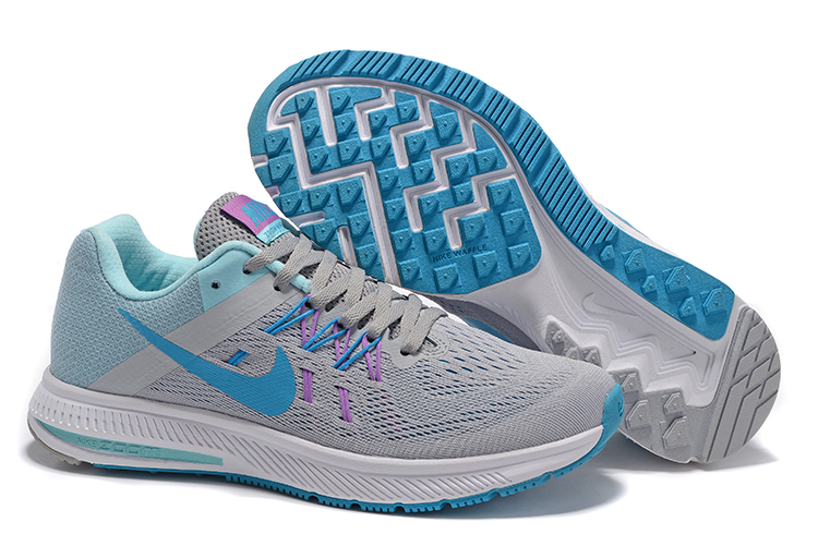 Women Nike Zoom Winflo 2 Grey Jade Blue Shoes