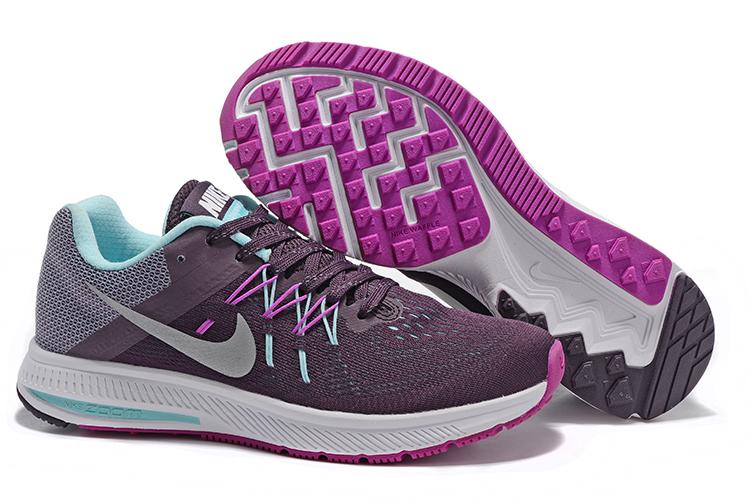 the latest d44c2 7ad1e ... Women Nike Zoom Winflo 2 Purple Grey Shoes ...