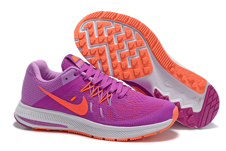 best sneakers 94c65 4e38f Women Nike Zoom Winflo 2 Purple Orange Shoes