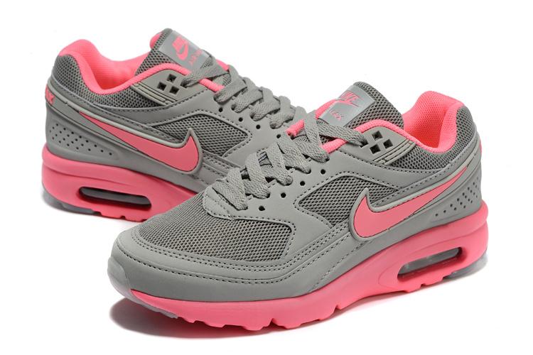 Women 2016 Nike Air Max 85 Grey Pink Shoes