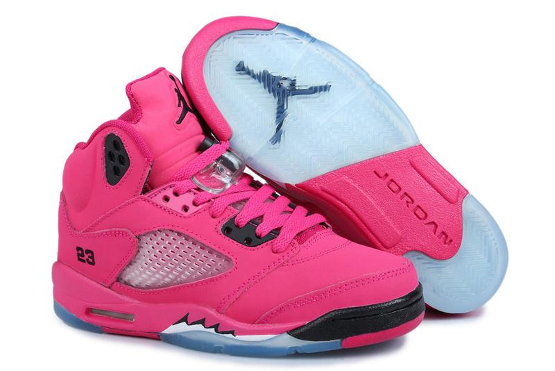 uk availability 35fb1 032c0 Women Air Jordan 5 Vivid Pink Black