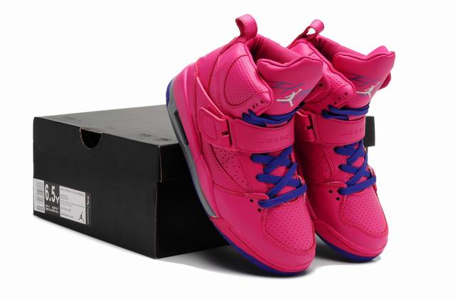 Women Air Jordan Flight 45 High Pink Blue