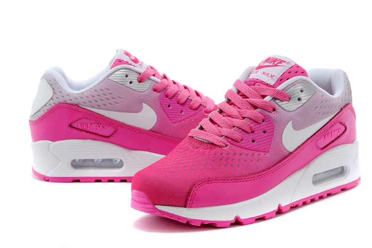 Women's Nike Air Max 90 Knit Pink White Shoes