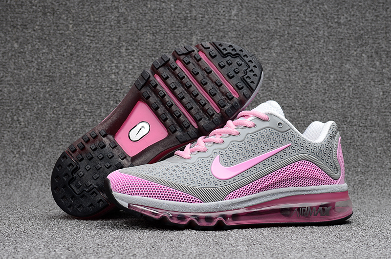 Women New Nike Air Max 2017.8 Grey Pink Shoes