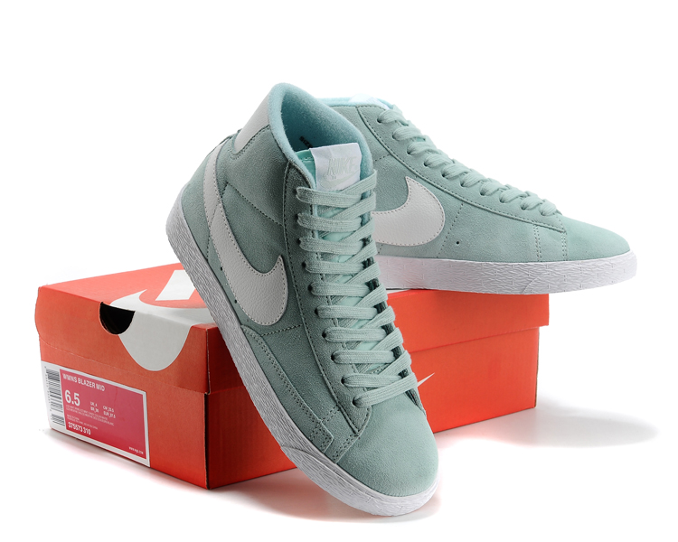Women New Nike Blazer Mid Gint Green White Shoes